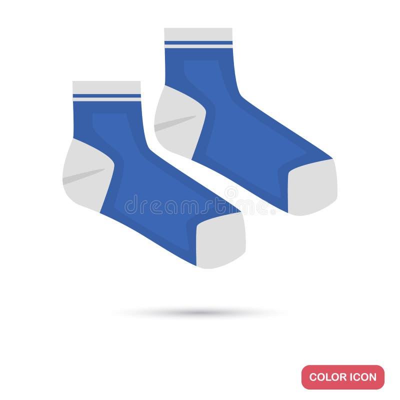 Parsockor färgar den plana symbolen för rengöringsduk och mobil design royaltyfri illustrationer
