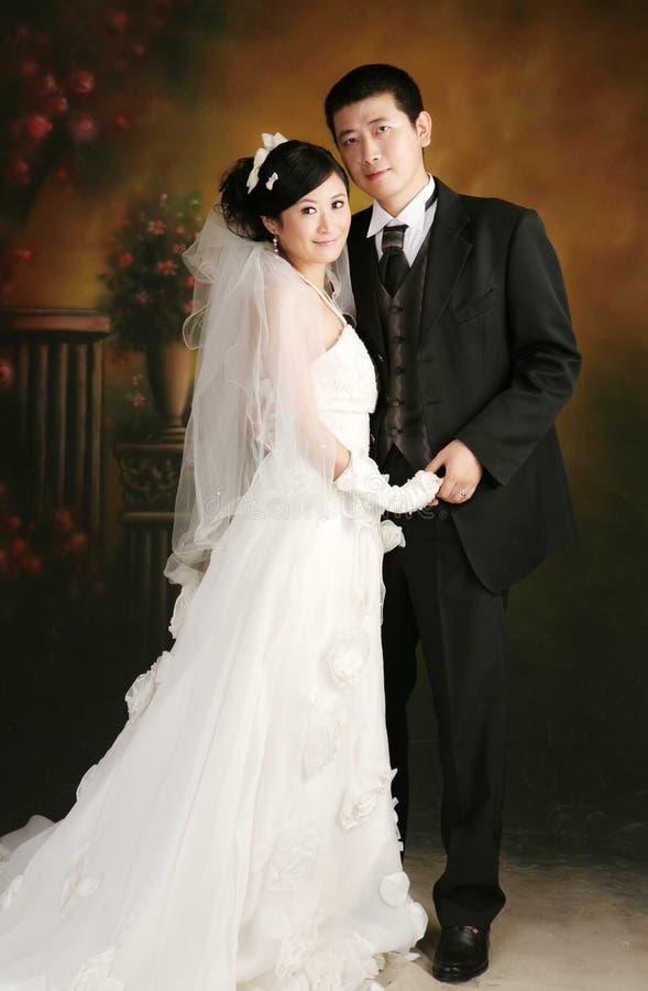 parståendebröllop royaltyfri foto