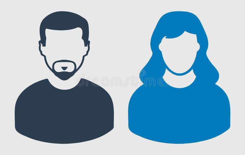 Parsymbol Man och kvinnligt symbol p? gr? bakgrund Plan stilvektor EPS vektor illustrationer