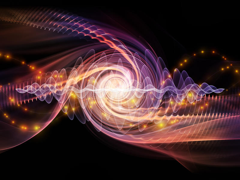 Partícula da onda ilustração do vetor