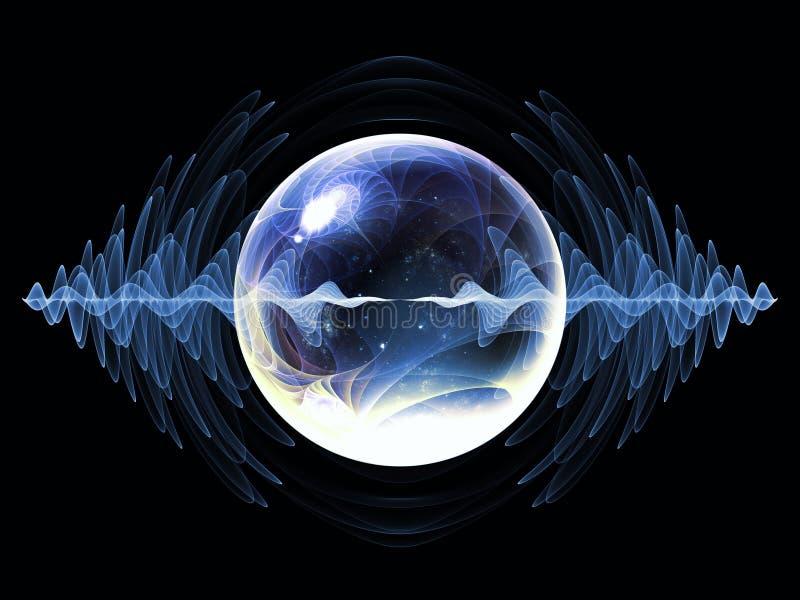 Partícula virtual de la onda ilustración del vector