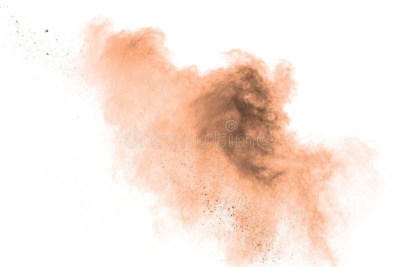 Partículas de Brown salpicadas en el fondo blanco fotos de archivo libres de regalías
