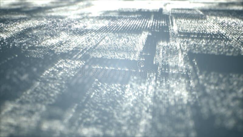 Partículas de espacio cibernéticas de Digitaces imagen de archivo