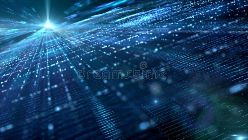 Partículas de espacio cibernéticas de Digitaces fotos de archivo