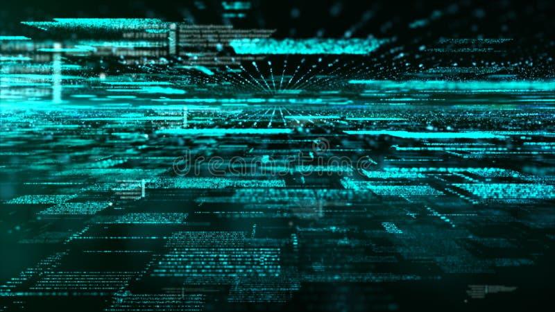Partículas de espacio cibernéticas de Digitaces ilustración del vector