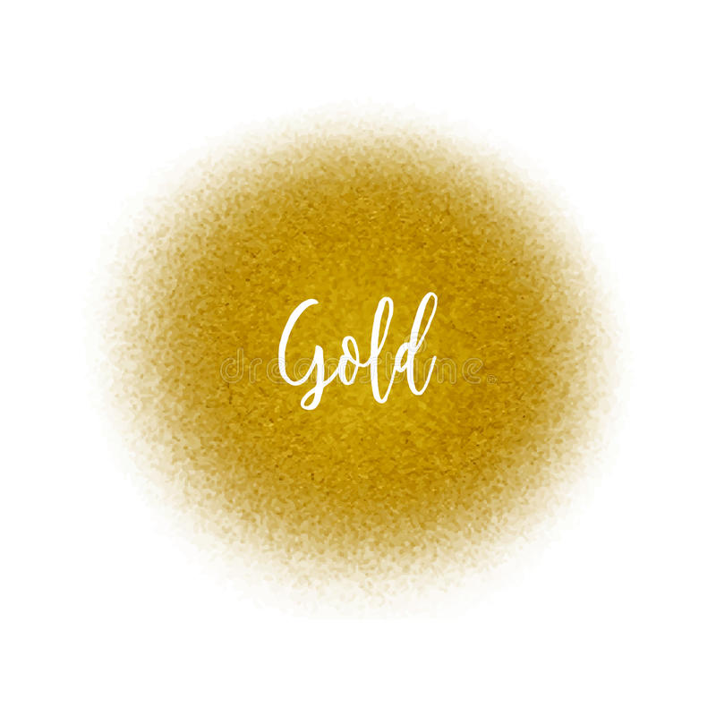 Partículas de oro del punto del espray Salpicadura de oro del aerógrafo ilustración del vector
