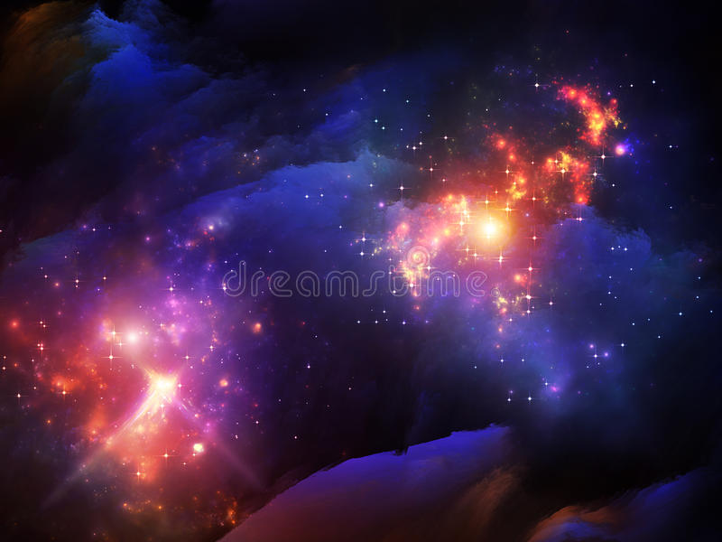 Partículas de pintura del fractal libre illustration