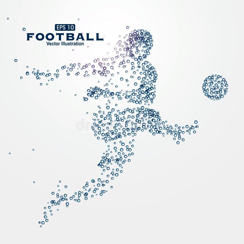Partículas dos gráficos dos esportes, ilustração, jogo de bola ilustração royalty free