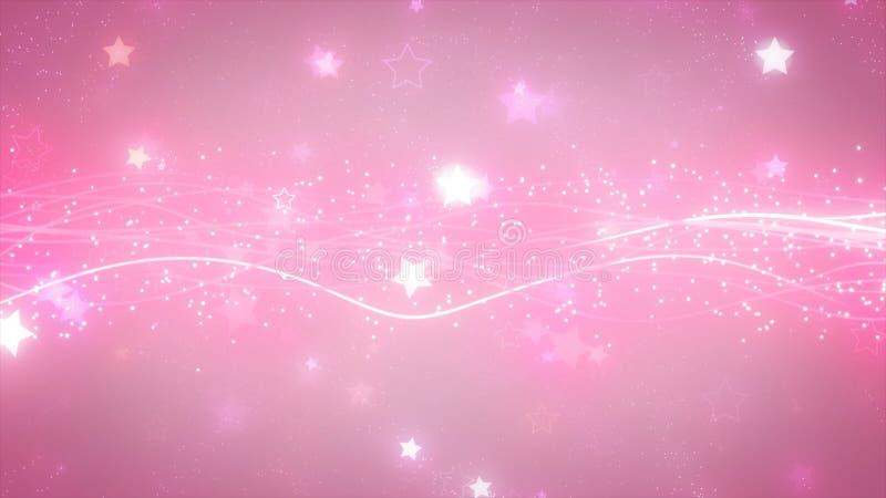 Partículas gráficas efervescentes e linhas brilhantes ilustração do vetor