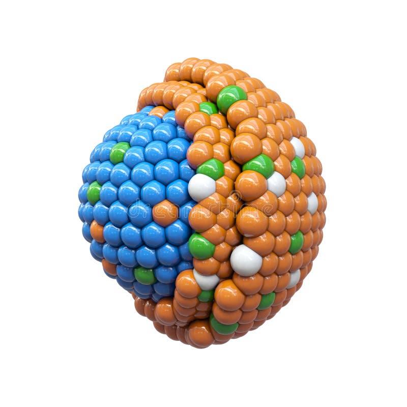 Partículas nanas seccionadas transversalmente stock de ilustración