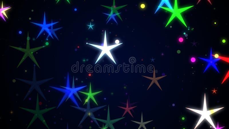Partículas que brilham no fundo à moda ilustração do vetor