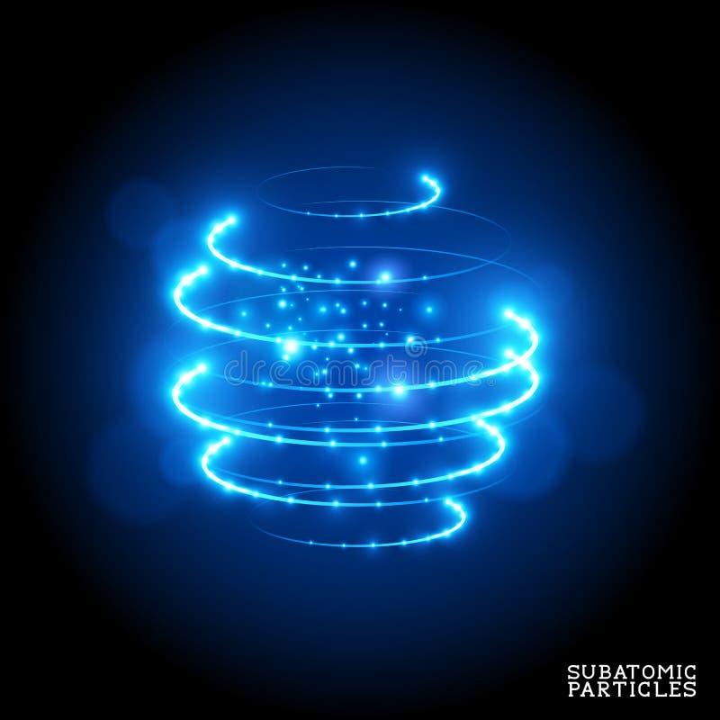 Partículas subatómicas ilustración del vector