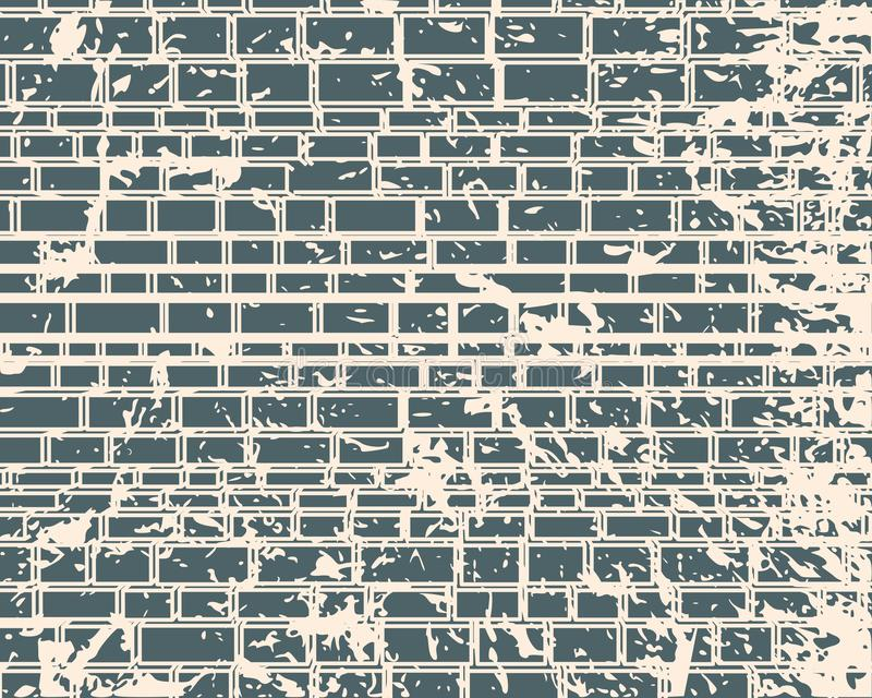 Part of the castle wall. Part of the abstract castle defense wall. Ancient brick wall texture vector illustration