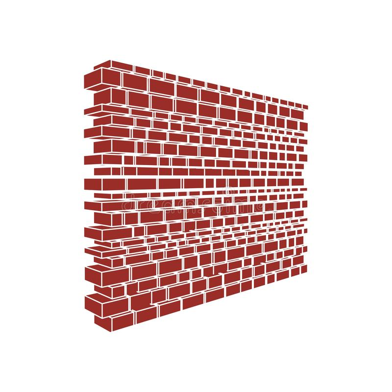 Part of the castle wall. Part of the abstract castle defense wall royalty free illustration