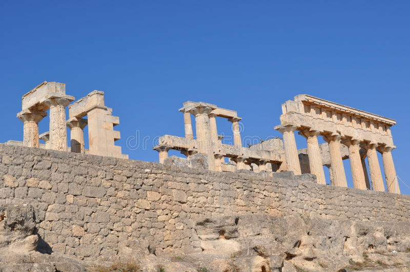 Download Greek Ancient Temple - Aphaia - Aegina Stock Photo - Image: 30066244