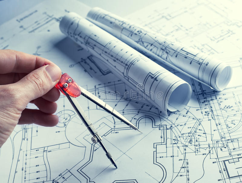 Developing engineering project royalty free stock photos