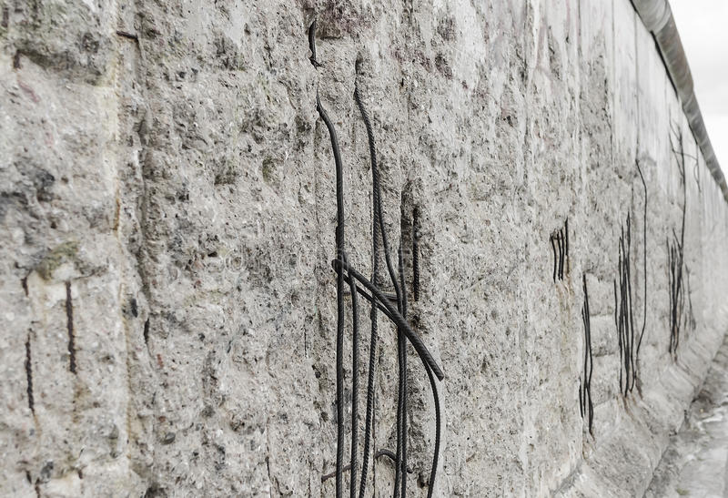 Part of the Berlin Wall. Part of the the Berlin Wall. Side view royalty free stock image