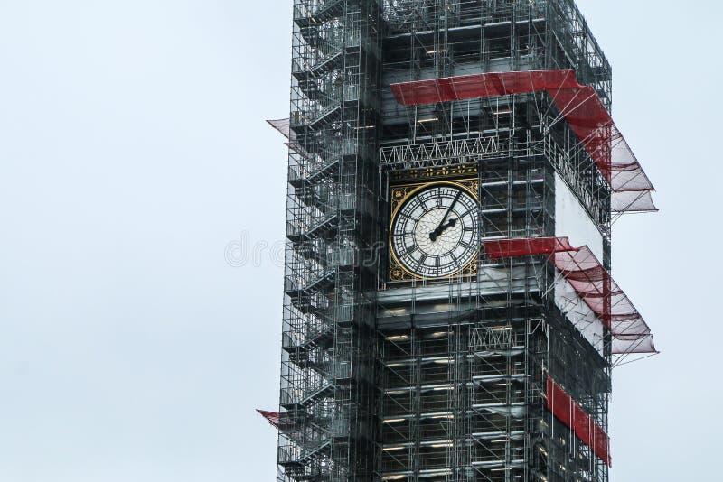 Part of Big Ben in London royalty free stock photos