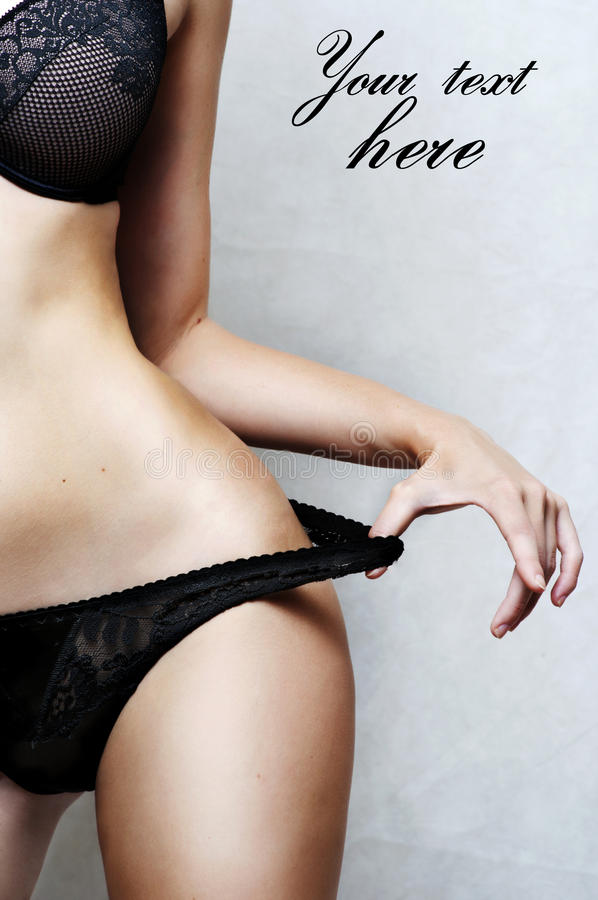 Part Of Body Of Underwear Model Royalty Free Stock Images