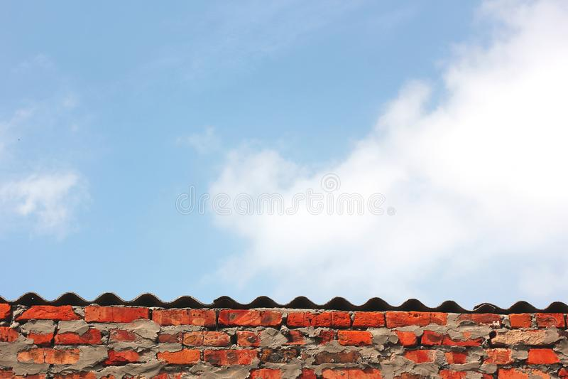 Part of the building against the sky.  royalty free stock photos