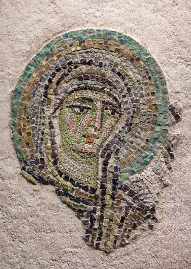 Byzantine mosaic with the Virgin Mary royalty free stock photography