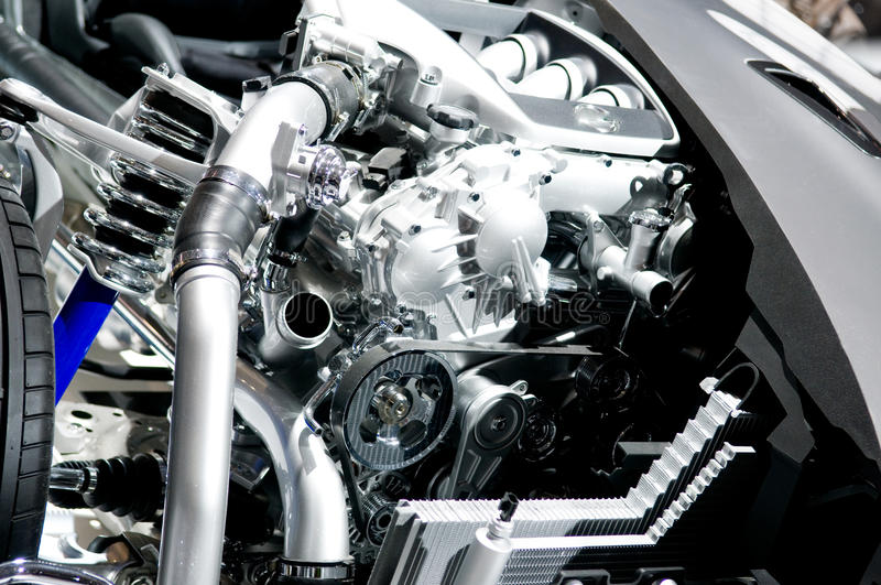 Download Part of a car engine. stock photo. Image of cell, expensive - 11829796