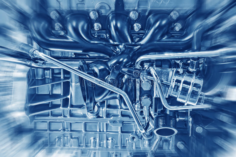 Engine. Part of a car engine royalty free stock photo