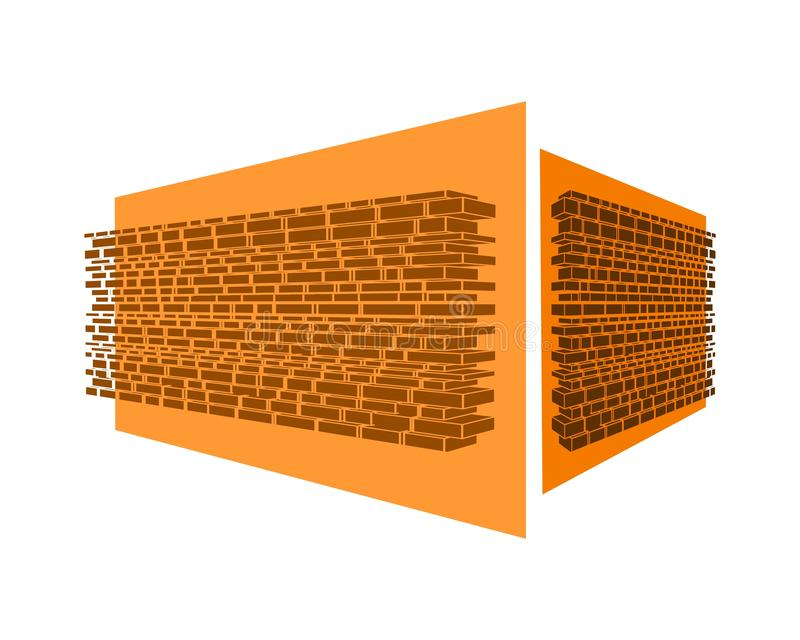 Part of the castle wall. Part of the abstract castle defense wall stock illustration