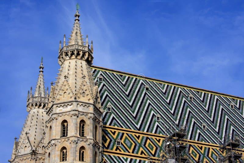 Part of cathedral; stephansplatz; austria; stock image