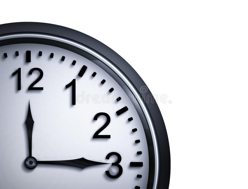 Part of the clock. Closeup on white background royalty free illustration