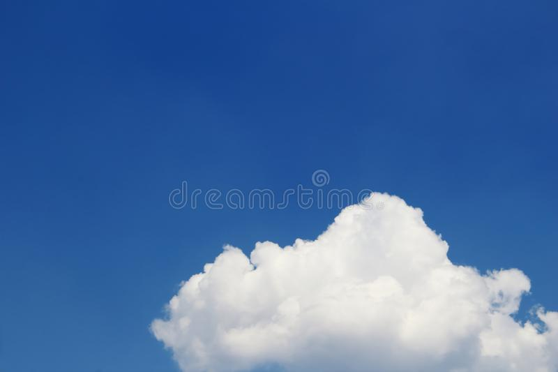 Cloud and blue sky. Part of cloud and blue sky in soft focusing royalty free stock images