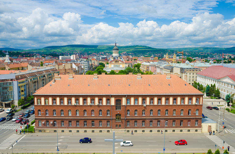 Download Part of Cluj city centre stock image. Image of blue, education - 45133023