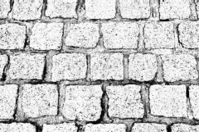 Part of cobblestone pavement. Vector halftone background. Part of cobblestone pavement. Monochrome vector halftone background stock illustration