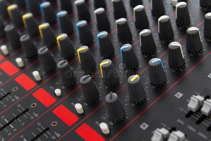 Download Part Of Control An Audio Sound Mixer Stock Image - Image: 32897433