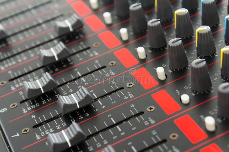 Download Part Of Control An Audio Sound Mixer Royalty Free Stock Image - Image: 32897436