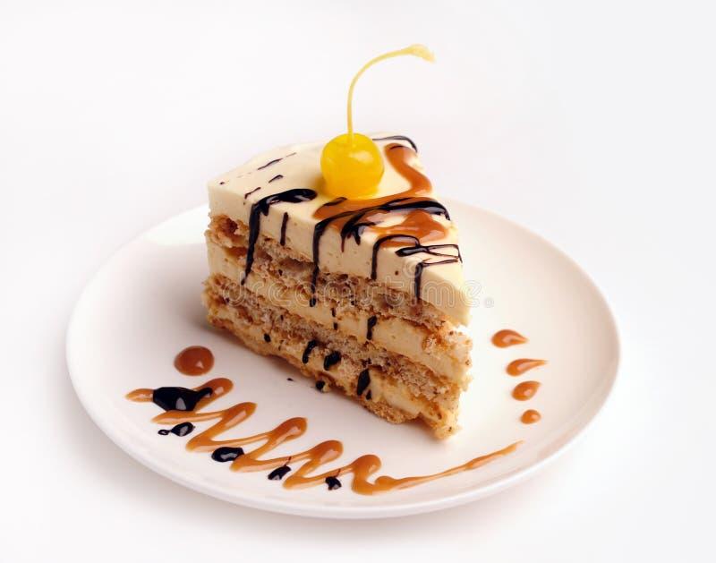 Part d'un gâteau. photographie stock