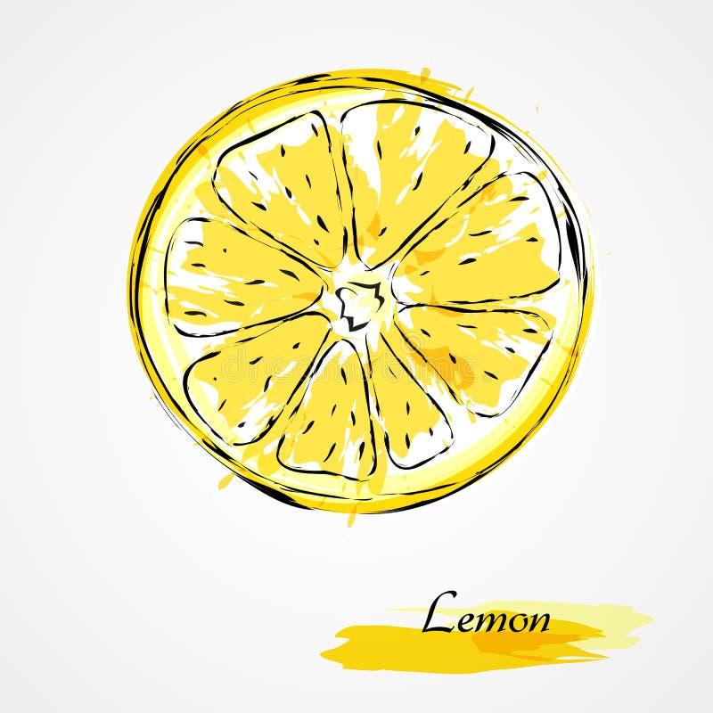 Part de citron illustration libre de droits