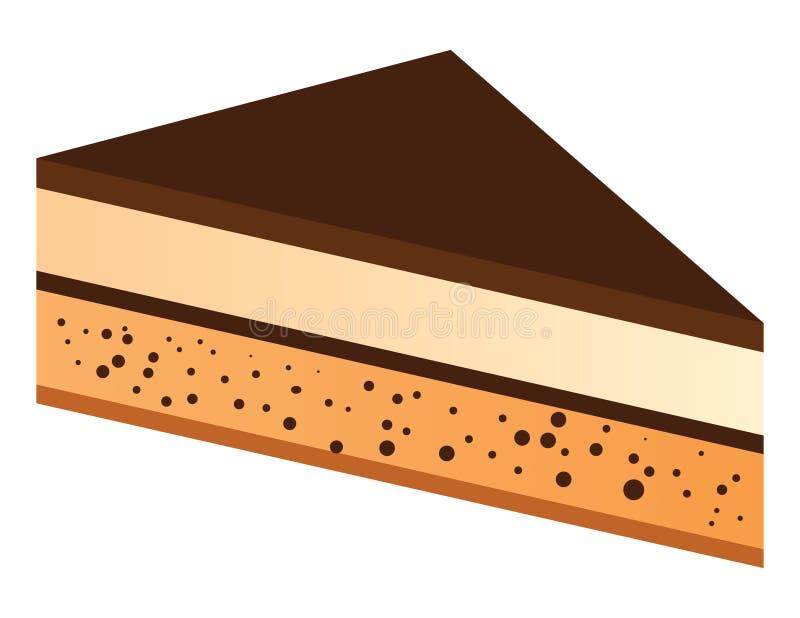 Part de gâteau de chocolat illustration stock