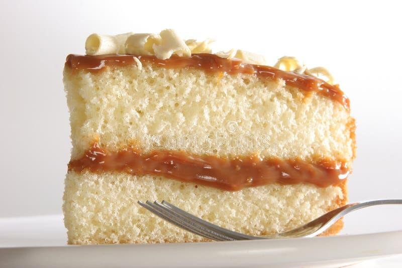 Part de gâteau posé photos libres de droits