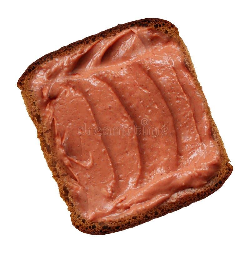 Part de pain avec le bourrage image libre de droits