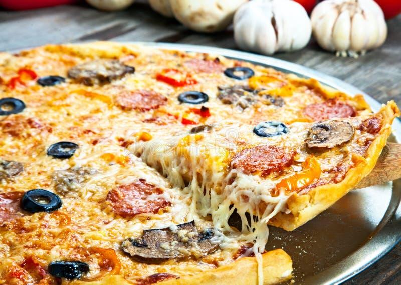 Part de pizza photo libre de droits