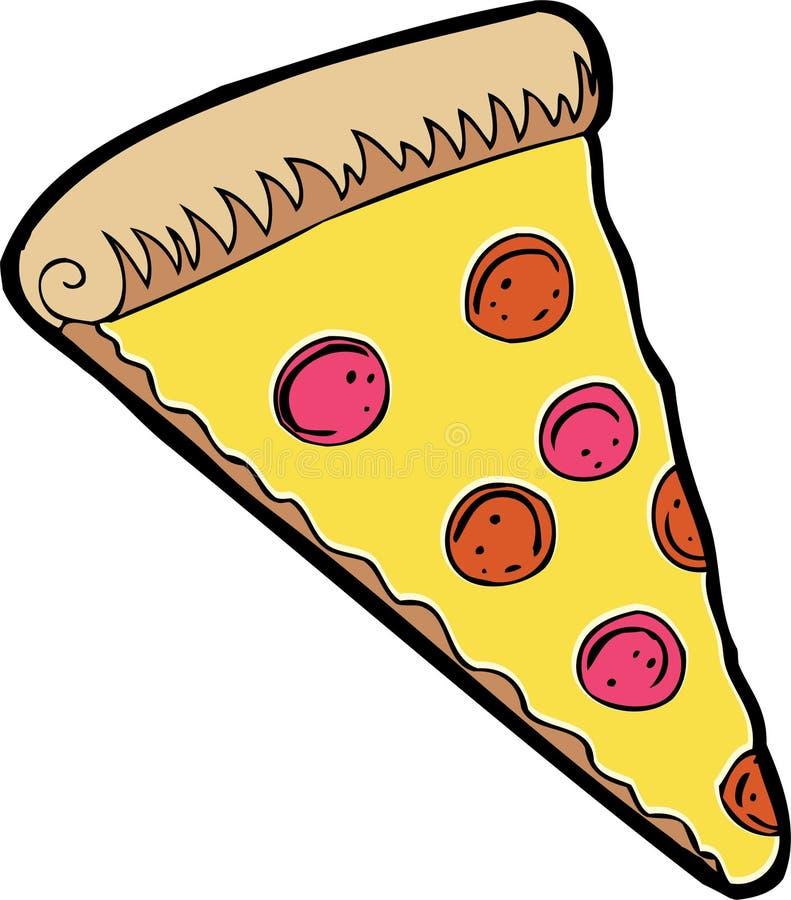 Part de pizza illustration libre de droits