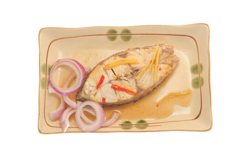 Part des poissons cuits photo libre de droits