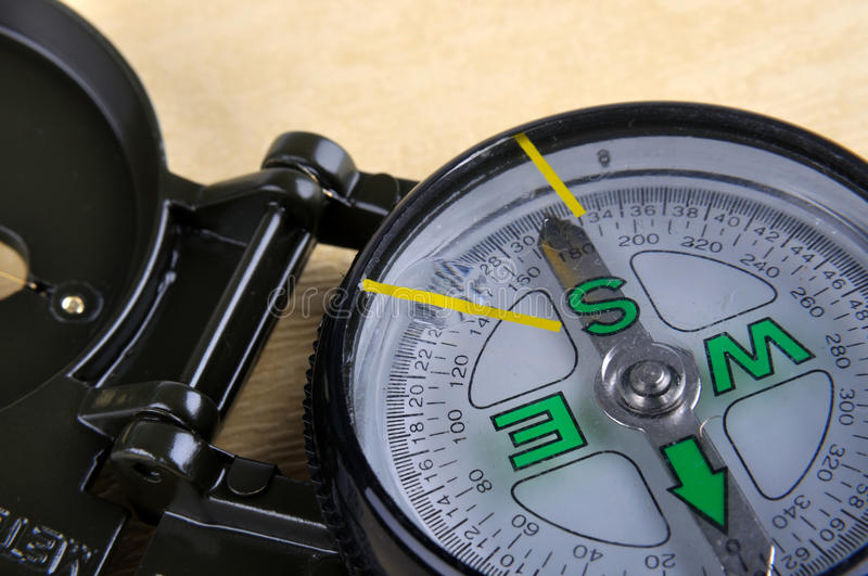 Part And Detail Of A Compass Royalty Free Stock Photos