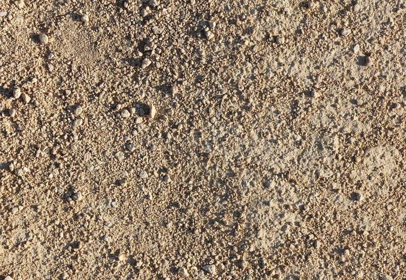 Part of dirt road of small gravel and sand, texture stock photos