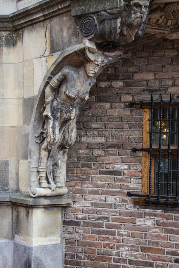 Part of The Duivelshuis devils house - a beautiful and important monument of Arnhem/Netherlands. Its origins lie as far back as. The 15th century royalty free stock photography