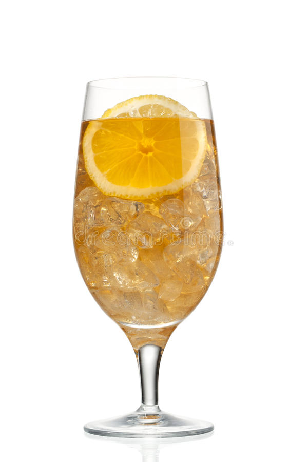 Part et jus oranges en glace images libres de droits