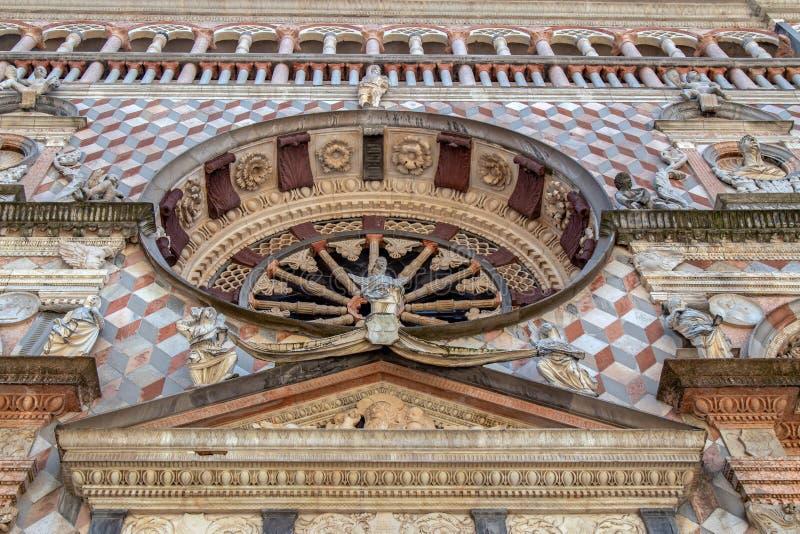 Part of facade from Basilica of Santa Maria Maggiore, Bergamo, Italy royalty free stock images