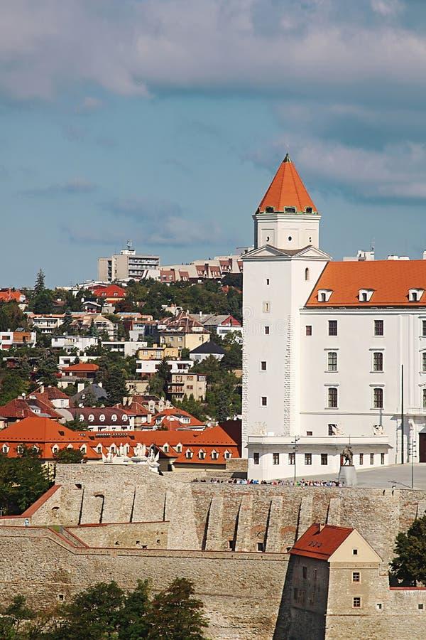 Part of famous Bratislava castle in Bratislava, Slovakia stock photos