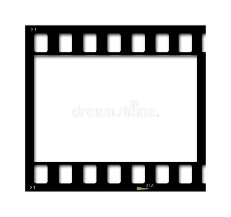 Part of filmstrip stock illustration